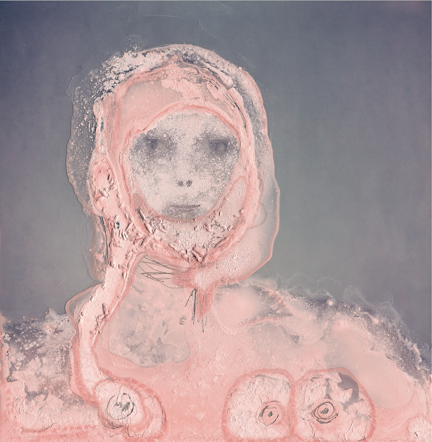 mumster#3: I am wasted (painted polaroid. 28x28''. 2021)